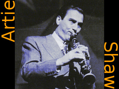 Image of Artie Shaw playing clarinet.