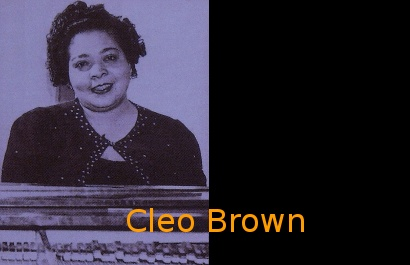 Image of Cleo Brown at the piano.