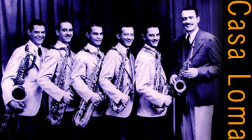 Image of Casa Loma sax section.