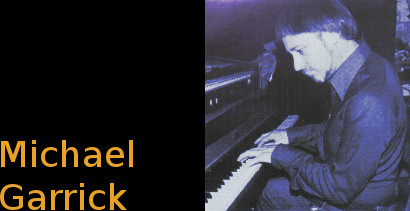 Image of Michael Garrick on piano.