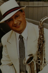 Image of Michael Hashim with saxophone.